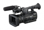 Sony Professional AVCHD hand-held camcorder.