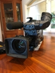 Panasonic HPX 502 P2 HD Camcorder with a Canon zoom lens & Kata Cover
