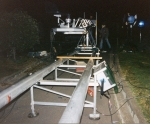 Traversing Track System including Alloy Tracks, Support Stands, Accessories, Camera Crane-Arm, Tandem-trailer, and more. A brochure fully describing this system is available on request; together with a detailed list of components.
